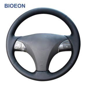 التوجيه جلد اليد غرزة الأسود PU الاصطناعي تغطية عجلة القيادة لES240 ES250 ES300 ES350 GS350 GS450h GS460 2009 2010