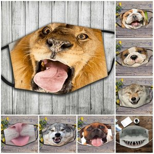 Riutilizzabili Maschere per viso lavabili Anti fumo Protezione respiratore di anti fumo Mascarilla Sottile Appeso Ear Pattern Cat Dog Shark Funny 4 5JQ D2