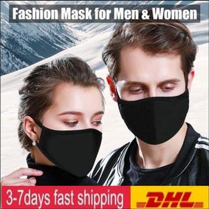 В наличии! Черный Хлопок лица РМ2,5 Маски с Дыхательные Cotton Washable многоразовых тканевых масок защиты от пыли Pet высокой qulaity FY9043