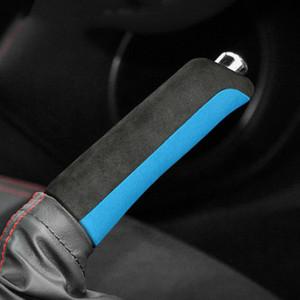 Alcantara couverture de frein à main Gear Head Pommeau de levier décalcomanies pour Subaru BRZ Toyota 86 2013-2020 Voiture Intérieur Accessoires Décoration