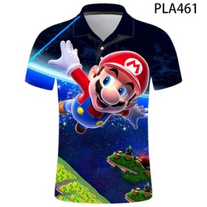 2020 new summer Mario 3D shirt casual men's children's fashion short-sleeved printed T-shirt cartoon top T-shirt