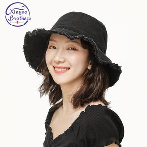 Fashion Lady Fringe Cowboy Hat Caps Sunscreen Pêcheur 2020 Nouveau Soleil Seau Cap pêcheur Denim Hat