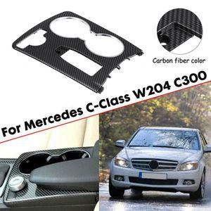 ABS Carbon Fiber Color Console Cup Holder Trim Cover for C-Class W204 C300 2046800307