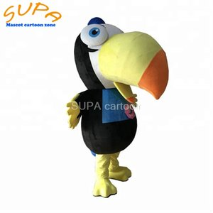 Free air shipping lovely walking parade parrot bird mascot costume with EVA helmet moving cartoon costumes for adults