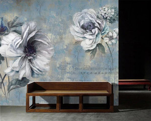 3d Bedroom Wallpaper European Hand-painted Oil Painting Retro Flowers Background Wall Romantic Floral 3d Wallpaper