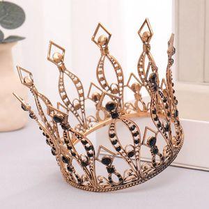 FORSEVEN Barock Black Crystal voll ringsum Tiaras Kronen Diadem Princess Bride Noiva Hochzeit Haarschmuck Ornaments