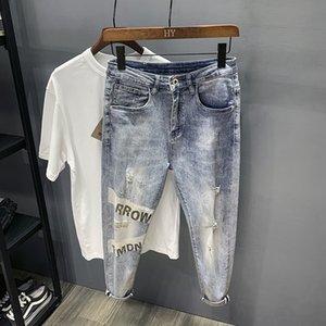 whi1A 5Zy9W nan shi ku hommes Jeans printemps 2020 printemps nouvelle mode tendance marque célébrité en ligne belle pants cheville super populaire tout match
