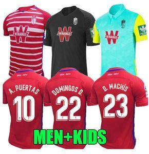 2020 Новая Гранада футбол Джерси 19 20 Гранада Клуб де Футбол Джерси # 18 Хоселу # 15 ПЕДРО # 11 Machis Сольдадо Пуэртас футбол футбол рубашка