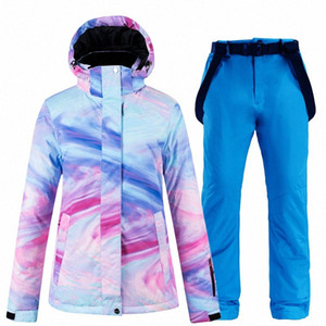 New color thick warm ski suit women's waterproof windproof ski suit and snowboard women's winter streetwear Xw0c#