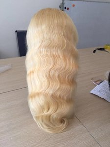 FULL Lace Wig 613 Human Hair Wigs for black women Pre Plucked With Baby Hair Brazilian Body Wave Hair Full End 180% dens