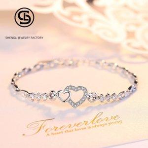 plata de ley S999 yhbvr corazón del estilo de Corea exquisita S999 joyería de plata esterlina estilo coreano heartbracelet exquisito brazalete de joyería