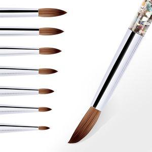 UV Gel Dibujo Pintura Nail Liner Cepillo Acrílico Nail Pen Francés Colores Mixtos Calabaza Manija de Nail Art DIY Herramientas 0157