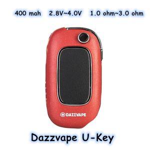 400 mah Dazzvape U-Key 2.8V to 4.0V adjustable resistance 1.0 omh to 3.0 ohm 50g 5 colors 510 thread