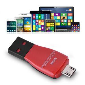 SSK Scrs600 다기능 카드 리더 고속 필요 지원 안드로이드 OTG의 USB 2 0.0 마이크로 USB Tf를 / 마이크로 SD 카드 리더기와 매는 밧줄
