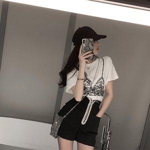 xvorp ligero de peso ligero maduro juego de las mujeres estilo maduro Hong Kong francesa nicho de dos piezas traje de estilo suave verano pequeña temperamento dos