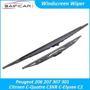 Baificar Brand New Windscreen Wiper Rain Front Windshield Blades For 206 207 307 301 C- C3XR C-Elysee C2