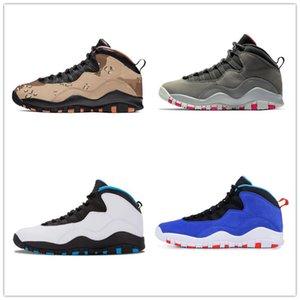 Zapatos de baloncesto del Mens 10s Cemento estoy de vuelta Westbrook Gris frío infrarroja invisible azules claros 10s X Deportes zapatillas de deporte Tamaño 7-13