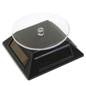 360 Rotating Placa Turn Table Energia Solar Para Watch Phone Jóias Display Stand MX200810