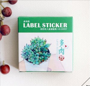 40Pcs Lot Fresh Style Succulent Label Stickers Decorative Mobile Stickers Scrapbooking DIY Diary Escolar Papelaria 2016 Cv4N#