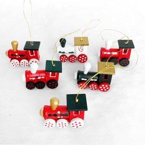Nuovi cerchi mobili treno Giftdecorative artigianato in legno ruote mobili Natale nuovo treno per bambini a sospensione giftgift Giftdecorative legno c