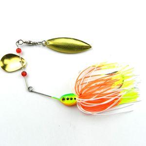 Faire tourner la barbe de type poisson métal Pêche Leurres Willow Type de feuille Faux appât