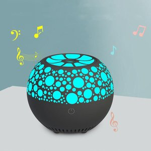 LED Night Light Wireless Bluetooth Speaker Hifi Stereo Surround Colorful Fragrance Lamp Voice Reminder USB Touch Dimming Light