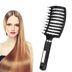 Saç Derisi Masaj Tarak Anti-Statik Fırça Kıl Naylon Duş Islak Kıvırcık Detangling Salon Taraklar Kadınlar Için Kıllar Styling Araçları Ücretsiz Gemi
