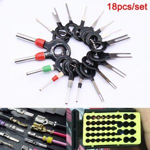 New 18 Pcs Car Wire Harness Plug Terminal Extraction Pick Connector Pin Remove Tool Set 9rfQ#