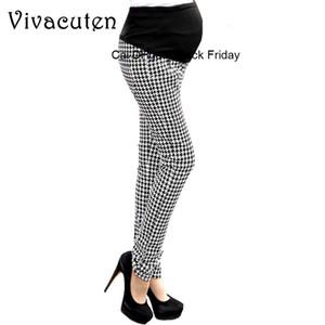 Maternity Plaid Pants For Pregnant Women Clothes Elastic Abdominal Pregnancy Trousers Prop Belly Pants Comfy Leisure Pants M29