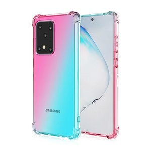 Ударопрочный воздуха ТПУ чехол для Samsung A40 A50 21S 30S 50S A60 M40 A70 A70S A2 градиент цвета задняя крышка Soft Прозрачные футляры