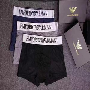 La marca última moda en ropa interior Hombre 2020pcs mucho boxer para hombre caliente masculino interior de los hombres del boxeador de los hombres de los calzoncillos de hombre Armani