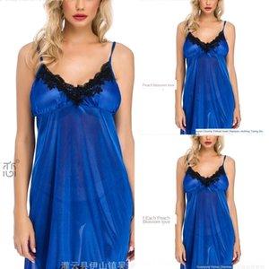 KgzRj сексуального искушения юбка пижама многоцветных SUSPENDER шелк льда SUSPENDER сексуальных юбки белье Sling 2135 нижнего белья
