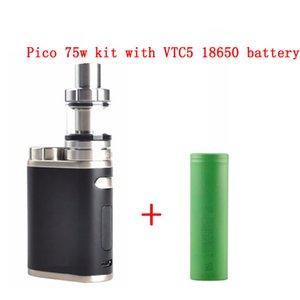 Electronic Cigarette Pico 75W Starter Kit with 18650 battery vape Mod Melo 3 TC 2ml 510 Thread Tank vaporizer vape pen box mod