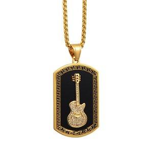 Мода Maze гитары площади Подвески Ночные бары Hip Hop ожерелье мужчин и женщин Dinner ожерелье партии