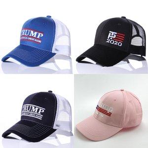 2020 Trump Baseball Cap Grande Marque Amérique Lettre de broderie réglable Mesh Sport Cap Président Élection Truck Hat Wholesale # 333