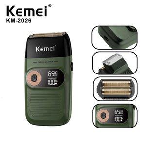 Kemei rasoio elettrico ricaricabile Trimmer rasatura macchina per Uomo Twin Blade lavabile alternativi Beard Razor