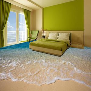 Praia costume 3D Sea Água Sala Quarto Casa de Banho Pavimento pinturas murais auto-adesivo Wallpaper Home Decor De Parede
