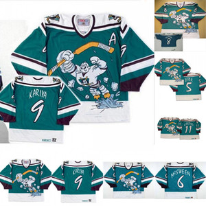 1995-1996 Mighty Ducks Wild Wing Jersey 5 6 DIRK Don McSween 8 Teemu Selanne 9 Paul Kariya 11 Valeri Karpov hockey de encargo jerseys
