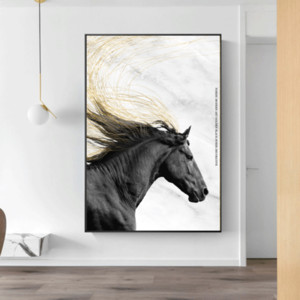 Canvas Painting Wall Posters and Prints Wild Horse Wall Art Pictures For Living Children Room Decoration Dining Entrance Hotel Home Decor
