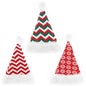 Cap Beanie listrado malha natal de malha Chapéus de Natal vermelho de Papai Noel Faqueiro Bag Pom-Pom Caps Xmas Party Props Detalhes no OWF1064