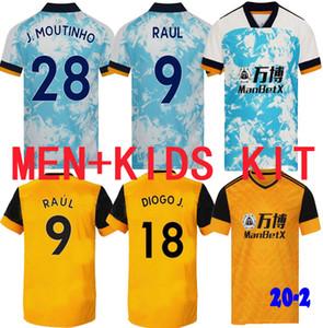 Новейшие 20 21 Волки Футбол Джерси Маулдон Рауль 62020 2021 Muatinho Saiss Wanderers Футбольная футболка Diogo J. Униформа Мужчин + Детский комплект