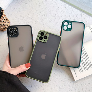 Camera Protection Bamper Phone Case для iPhone 11 11 Pro Max XR XS MAX X 8 7 6S PLUS Matte Transcuctent Ambouse Back Cover оптом DHL