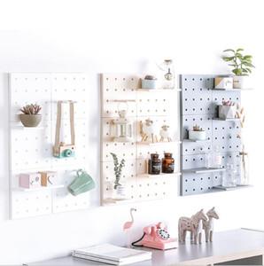 Plastic Racks Storage Holders Plastic hole board storage living room kitchen bedroom partition Wall hanging wall shelf