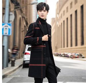 Coat Luxury Plaid Thick Slim Wool Outerwear Fashion Mens Plus Size Fleece Coat Winter Designer Mens