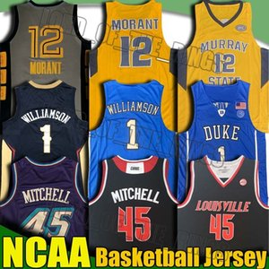 NCAA Gonzaga Donovan Jersey Mitchell Duke Zion 1 Jersey Williamson Murray State Ja 12 Jerseys Morant College Basketball Jerseys 8-30