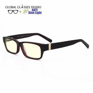 Anti Blau lichtundurchlässige Brille Acetate optische Gläser Vollrand Unisex cmputer RM00482 C6 Tifosi Sonnenbrillen Günstige Brillen Online 04fK #