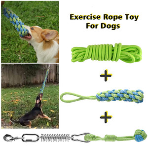 Play Pull Muscle Builder Home Backyard Outdoor Hanging Spring Pole Rope Toy Exercise Easy Install Bite Resistant Garden For Dogs