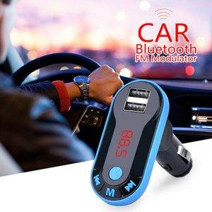 I9 자동차 블루투스 5.0 FM 송신기 무선 핸즈프리 오디오 수신기 자동차 MP3 플레이어 2.1A 듀얼 USB 고속 충전기 자동차 액세서리