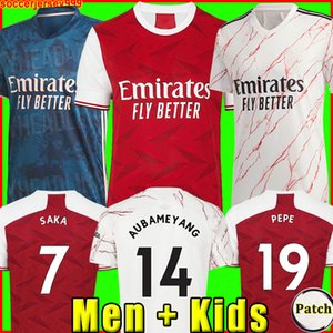 Arsenal soccer jersey football shirt camiseta de fútbol 20 21 PEPE AUBAMEYANG LACAZETTE 2020 2021 Camiseta WILLIAN Özil kit chandal de fútbol uniformes tercera de la