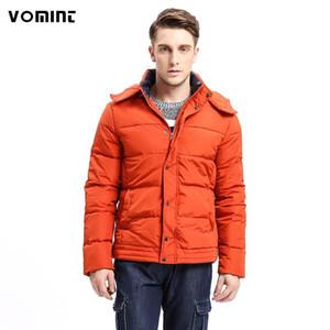 Sıcak Katı Renk Moda Çoklu Aşağı Vomint 2020 Moda Yeni Erkekler Aşağı Ceket Hoodie Ceket% 80 F6WI9333 Cepler